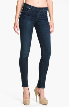 The best jeans ever. Once you wear them you can never go back.   Citizens of Humanity Skinny Stretch Denim Leggings (Dark Blue) available at #Nordstrom