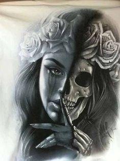 Pin by ardie saur on awesome owo art татуировки, эскиз тату, Dr Tattoo, Skull Girl Tattoo, Tattoos Skull, First Tattoo, Body Art Tattoos, Girl Tattoos, Tattoos For Guys, Sleeve Tattoos, Chicano Tattoos