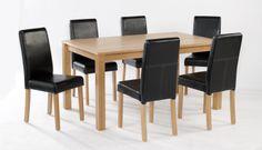 Linden Large Oak Veneer Table  Dimensions: L1500mm x W900mm x H740mm
