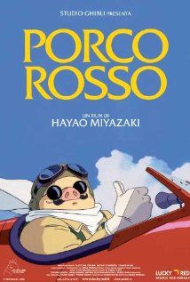 """Porco Rosso / Kurenai no buta (1992) ... The adventures of """"Porco Rosso"""", a veteran WW1 pilot in 1930s Italy, who has been cursed to look like an anthropomorphic pig. (21-Mar-2015)"""