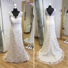 Kenneth Winston '1540B'. Available in size 12. RRP £1200, now just £725. Call 01525 305 008 or email enquiries@lucyhartbridal.com.