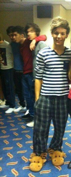 The most important picture of Louis in moose slippers
