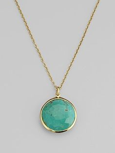 gorgeous and simple..love turquoise framed in gold