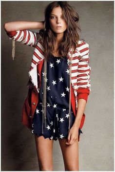 4th of July outfit or an outfit for any time you're feeling patriotic!