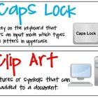 This file contains 28 computer terms to be displayed on a bulletin board or the wall. Each word contains a definition and clipart.  Caps Lock Clip ...