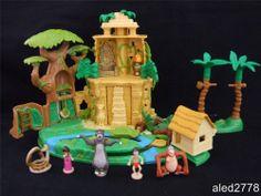 Vintage Very Rare Polly Pocket Disney Jungle Book Play set 100% Complete