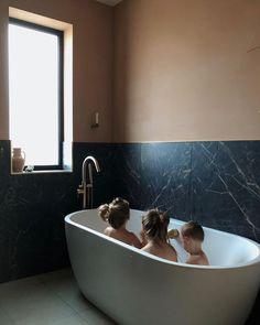 How I get a few minutes to sort myself in the morning🤣 Black Marble Bathroom, Masculine Bathroom, Bathtub, Painting, Standing Bath, Bathtubs, Bath Tube, Painting Art, Paintings