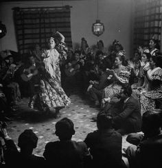 Gypsy dancer performing. Photograph by Dmitri Kessel. Granada, Spain, 1949