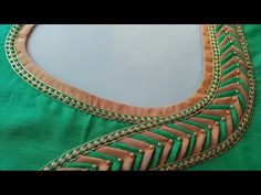 stitching of a beautiful back neck design of blouse easy | fashion designing - YouTube
