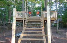 Sandy Springs Zip Line  Adventure Park in Maryland for ages 5 - Adult
