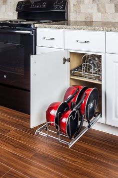 """Pots and Pans Pullout- Pots and Pans Pullout Organizer for 15"""" Base Cabinet. Retail Packaged. (Item # MPPO215-R)"""
