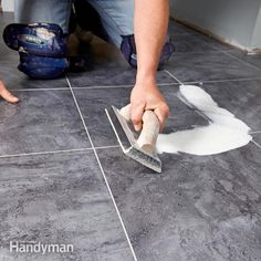 Learn how to install commercial-grade luxury vinyl tile with this simple step-by-step guide. LVT is groutable vinyl tile and waterproof.