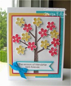 using Stampin Up Season of Friendship