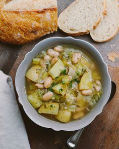 POTATO + LEEK + WHITE BEAN SOUP