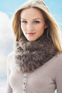 Loops & Threads® Fabulous Fur™ Forever Cowl (Knit)