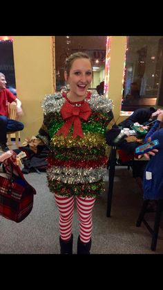 Best Ugly Christmas Sweater, Christmas Fancy Dress, Christmas Clothes, Diy Christmas Gifts, Holiday Decor, Weird Costumes, Halloween Costumes, Silly Holidays, Christmas Hairstyles