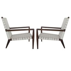 A Pair of T.H.Robsjohn-Gibbings Classic Long Arm Chairs #chairs, #furniture, #midcentury