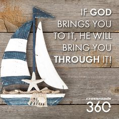 """""""If God brings you to it, He will bring you through it"""" #faith #hope #God #Jesus"""