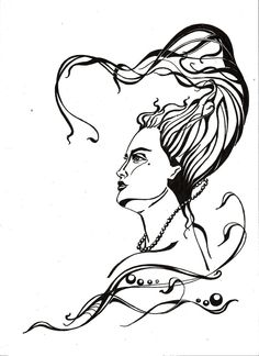 Art nouveau woman by HelgaPat.deviantart.com on @DeviantArt