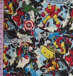 Hey, I found this really awesome Etsy listing at https://www.etsy.com/listing/98855266/marvel-comic-action-hero-fabric-by-the