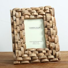 Wood photo frame picture frame handmade home decoration Wine Cork Projects, Wine Cork Crafts, Frame Crafts, Diy Frame, Cork Art, Photo Picture Frames, Photo On Wood, Handmade Home, Diy Crafts To Sell
