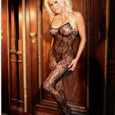 Rose Lace Bodystocking Plus Size