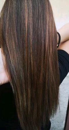 Brunette Hair Color With Highlights, Brown Hair Balayage, Brown Blonde Hair, Hair Highlights, Highlights For Brunettes, Chocolate Brunette Hair, Pretty Hair Color, Light Hair, Long Hair Cuts