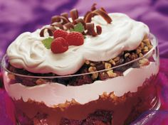 Chocolate Trifle.  Dig in!  Here's an impressive dessert that's meant to be a serve-yourself buffet wow.