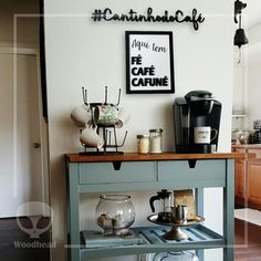 Coffee Zone, Sweet Home, Coffee Bar Home, Cafe Bar, Kitchen Cart, Home Office, Craftsman, Tiny House, Architecture