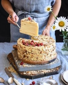 Ukrainian Recipes, Russian Recipes, Tart Recipes, Cooking Recipes, Sweet Desserts, Cake Cookies, How To Make Cake, I Foods, Vanilla Cake