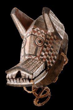 Africa   Zoomorphic mask from the Gurunsi people of Burkina Faso   Wood, pigment   ca. 1977