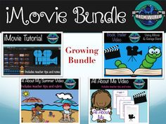This product contains 4 popular techy projects! You save BIG when you buy this bundle! This product is great for integrating technology in any subject all year for any grade. This product contains 4 projects from my store Tech-WorldBook Trailer Using iMovie & Garage BandAll About Me VideoiMovie TutorialAll about my SummerEach project contains the following: * Teacher Instructions for each project * Project Lesson, including variations and tips* Rubrics* Handout for scenes* Groups sheets* ...