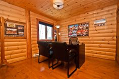 Country log home Log Home Living, Log Homes, Photo Galleries, Conference Room, How To Plan, Gallery, Table, Furniture, Country