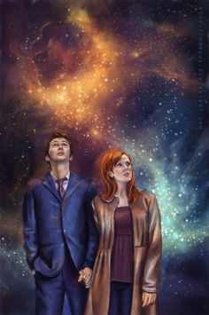 doctor who art. The Doctor and Donna. Doctor Who Fan Art, Doctor Who Quotes, Science Fiction, Serie Doctor, Martha Jones, Captain Jack Harkness, Rory Williams, Donna Noble, Eleventh Doctor