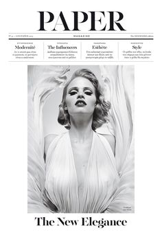 Fashion editorial magazine cover, elegant and feminine graphic design in black and white. Layout Design, Graphic Design Layouts, Design Web, Design Trends, Newspaper Layout, Newspaper Cover, Editorial Layout, Editorial Design, Layout Inspiration