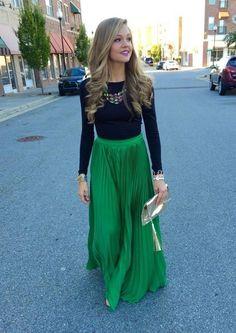 Long dress skirts trends