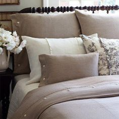 love soft colors/hues for the bedroom, very restful.