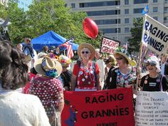 "Raging Grannies say ""No Cuts!"" to Social Security and Medicare"
