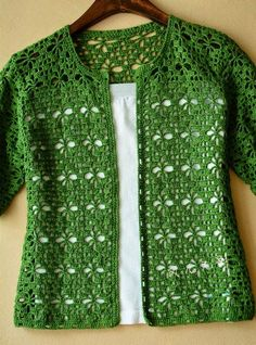 Cardigan crochet vert Kingdom Crochet Kingdom - Cardigan crochet vert Kingdom Crochet Kingdom Vous êtes à la bonne adresse pour diy crafts Nous re - Gilet Crochet, Crochet Cardigan Pattern, Crochet Jacket, Crochet Blouse, Crochet Shawl, Crochet Stitches, Crochet Patterns, Lace Cardigan, Sewing Patterns