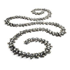 Obsessed w this Oval Grey Crystal Jewelry Garland. $175.00 at neiman