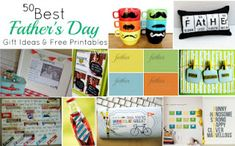 Lots of DIY Great Father's Day Cards, Decor, Gifts etc