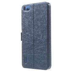 Mesh - Huawei Honor 6 Hoesje - Window View Cover Scratch Blauw | Shop4Hoesjes