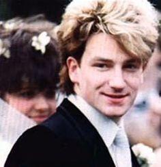 Bono and Ali Hewson on their wedding day, August 21, 1982 #u2NewsActualite #u2NewsActualitePinterest