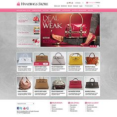 osCommerce Templates Impressive design offers great product advertising on the main page with effective banners slideshow, animated featured products and new products sliders. Perfect design for fashion and related industry ecommerce sites. Magento Design, Product Advertising, Free Ecommerce, Handbag Stores, Sliders, Banners, Templates, Car, Projects