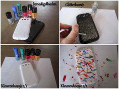 Telefoon hoesje | Glitterhoesje | Kleurenhoesje