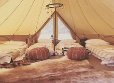 Get into the desert vibes with the uber chic Snazzy Styling of our 6 meter bell tent! Sleeping people, this is the largest bell tent in our fleet! Bell Tent Glamping, Tent Camping, Tents, Interior Rugs, Interior Styling, Glamping Weddings, Destination Weddings, Backyard Birthday Parties, Tent Hire