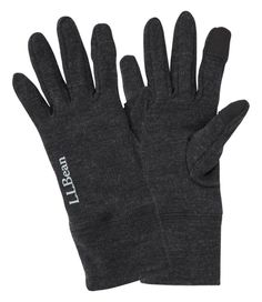 """Made from 100% Merino wool, these gloves are naturally warm and breathablea""""and an incredible value. Wear alone on cool days or use under a shell or heavier gloves for very cold weather. Fitted liner glove. 100% Merino wool. Index finger and thumb: 93% polyester, 7% spandex. Machine wash, line dry. Thumb and index finger are touchscreen compatible. Fits comfortably under most winter gloves for extra warmth. Naturally warm, soft, and breathable for exceptional comfort next to skin. Imported. Best Winter Gloves, Glove Liners, We Wear, How To Wear, Weather Activities, Very Cold, Chilly Weather, Mitten Gloves, Flannel Shirt"""