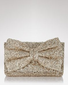 Betsey Johnson Bow-Tiful Sequin Clutch   Bloomingdale's