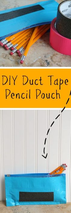 DIY Duct Tape Pencil Pouch | SensiblySara.com