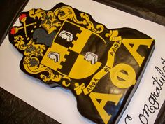 Alpha Phi Alpha cake Alpha Phi Alpha Founders, Sorority And Fraternity, 50th Birthday, Birthday Celebration, Birthday Cake, Greek Gifts, Founders Day, Honor Society, Wedding Cupcakes